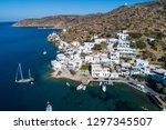 aerial view of katapola vilage  ...   Shutterstock . vector #1297345507