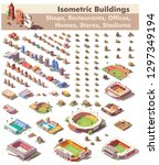 vector isometric buildings... | Shutterstock .eps vector #1297349194