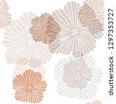 dark orange vector seamless... | Shutterstock .eps vector #1297353727