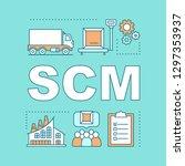 scm word concepts banner.... | Shutterstock .eps vector #1297353937