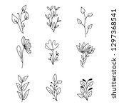 vector set of handdrawn doodle... | Shutterstock .eps vector #1297368541