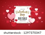 valentine's day love and... | Shutterstock . vector #1297370347