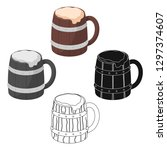 viking ale icon in cartoon... | Shutterstock .eps vector #1297374607