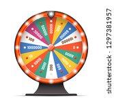 casino luck fortune wheel spin... | Shutterstock .eps vector #1297381957
