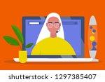 online consultant. operator... | Shutterstock .eps vector #1297385407