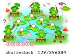 educational page with exercises ... | Shutterstock .eps vector #1297396384
