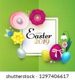 happy easter design template... | Shutterstock .eps vector #1297406617