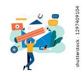 e mail news  subscription ... | Shutterstock .eps vector #1297409104