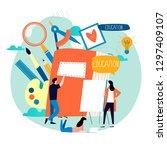 education  online training... | Shutterstock .eps vector #1297409107