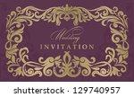 wedding invitation cards... | Shutterstock .eps vector #129740957