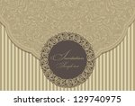 wedding invitation cards... | Shutterstock .eps vector #129740975