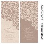 wedding invitation cards... | Shutterstock .eps vector #129740999