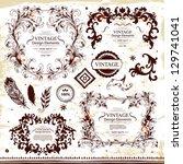 vector set of design elements | Shutterstock .eps vector #129741041