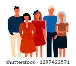 group portrait of office... | Shutterstock .eps vector #1297422571