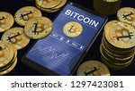 smartphone with bitcoin chart... | Shutterstock . vector #1297423081