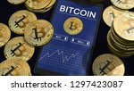 smartphone with bitcoin chart... | Shutterstock . vector #1297423087