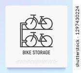 bike storage thin line icon....   Shutterstock .eps vector #1297430224