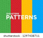 disasters seamless pattern with ... | Shutterstock .eps vector #1297438711