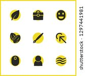 universal icons set with click...