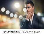 portrait of handsome young...   Shutterstock . vector #1297445134