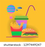 vector infographic with colored ... | Shutterstock .eps vector #1297449247
