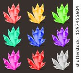 crystal set. different colors....   Shutterstock .eps vector #1297455604