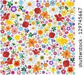 spring flowers pattern tile | Shutterstock . vector #129745667