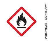 flammable sign vector image | Shutterstock .eps vector #1297467994