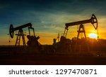 two working oil pumps...   Shutterstock . vector #1297470871