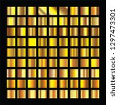 golden squares collection. gold ... | Shutterstock . vector #1297473301