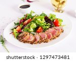 japanese traditional salad with ... | Shutterstock . vector #1297473481