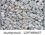 gabion protective wall | Shutterstock . vector #1297489657