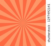 red abstract sunburst or... | Shutterstock .eps vector #1297492141