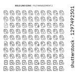 file management 2  bold line... | Shutterstock .eps vector #1297492501