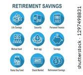 retirement account   savings... | Shutterstock .eps vector #1297498831