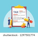 online tax form vector...