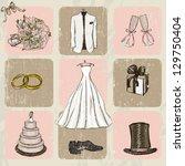 Vintage Wedding Poster. Vector...
