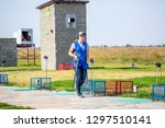 shooting sports. team workouts  ... | Shutterstock . vector #1297510141