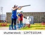 shooting sports. team workouts  ... | Shutterstock . vector #1297510144