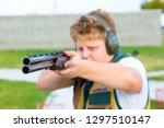 shooting sports. team workouts  ... | Shutterstock . vector #1297510147