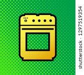 stove sign. vector. pop art... | Shutterstock .eps vector #1297519354