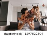charming caucasian lady... | Shutterstock . vector #1297522504