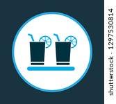 margarita icon colored symbol.... | Shutterstock .eps vector #1297530814
