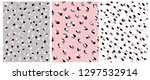 set of 3 cute abstract dots... | Shutterstock .eps vector #1297532914