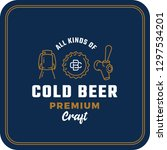 all kinds of cold beer.... | Shutterstock .eps vector #1297534201