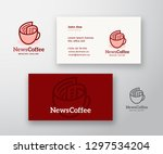 news coffee abstract vector... | Shutterstock .eps vector #1297534204