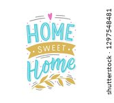 hand drawn lettering with... | Shutterstock .eps vector #1297548481