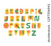 cute hand drawn alphabet made...   Shutterstock .eps vector #1297556941