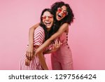 african sisters with dark curls ... | Shutterstock . vector #1297566424