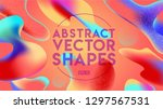 colorful geometric background.... | Shutterstock .eps vector #1297567531